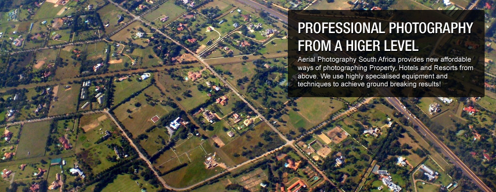 Aerial Photo from an Aeroplane of farms near Johannesburg