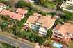 Umhlanga Guest House photographed from a fixed wing aircraft